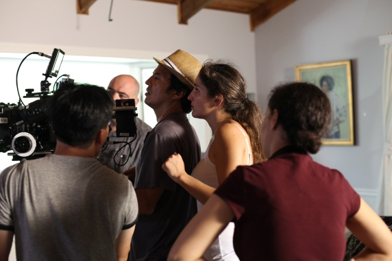 On Set of 'Surviving Family' - Tim Naylor, Laura Thies