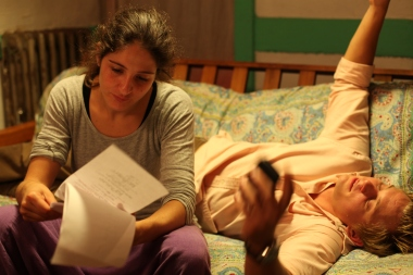 On Set of 'Surviving Family' - Laura Thies, Billy Magnussen