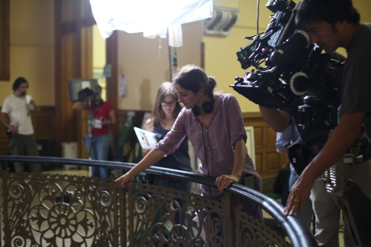 On Set of 'Surviving Family' - Laura Thies, Tim Naylor