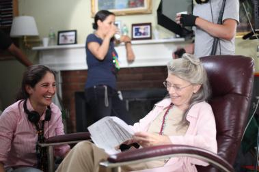 On Set of 'Surviving Family' - Laura Thies, Phyllis Sommerville