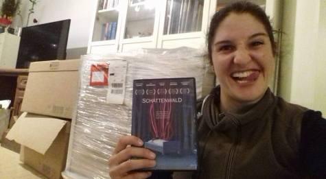 Ankunft der 'Schattenwald' DVD - Laura Thies