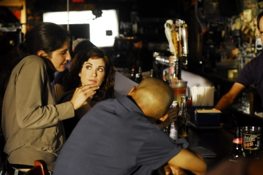 On Set of 'Surviving Family' - Laura Thies, Sarah Wilson, J.D. Williams